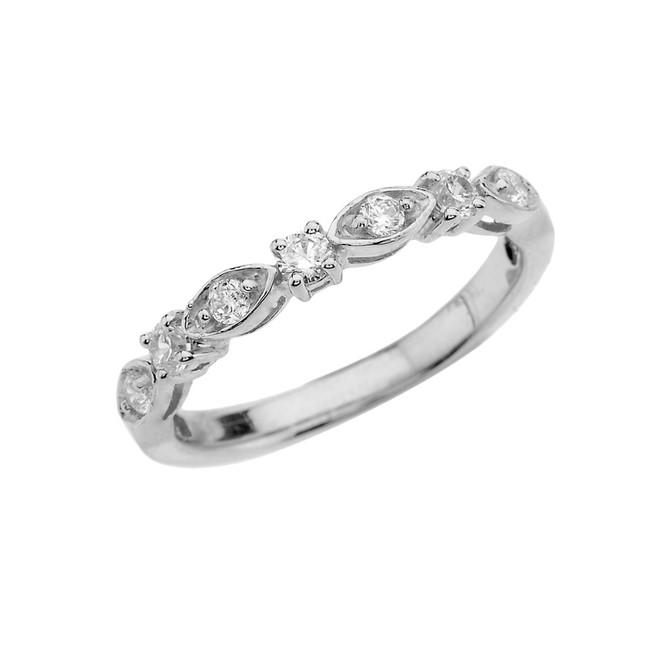White Gold Diamond Engagement/Anniversary Band