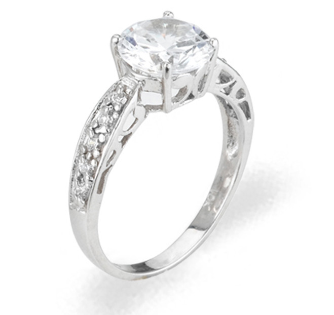 Ladies Cubic Zirconia Ring - The Elise Diamento