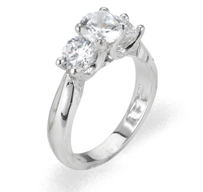Ladies Cubic Zirconia Ring - The Uma Diamento