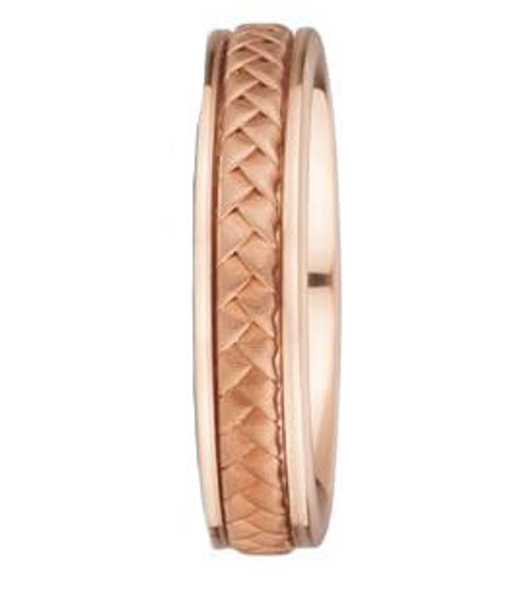 14k Rose Gold Hand Braided Wedding Band