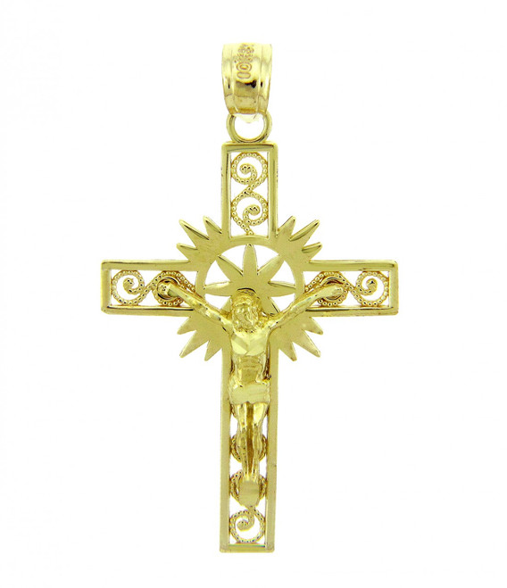 Yellow Gold Crucifix Pendant - The Hope Crucifix