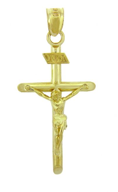 Yellow Gold Crucifix Pendant Necklace - The INRI Crucifix
