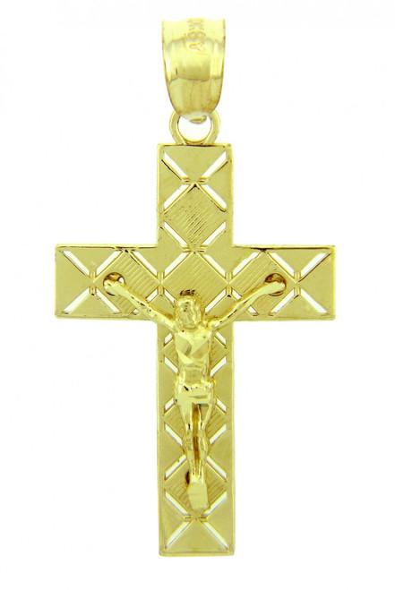 Yellow Gold Crucifix Pendant - The Light Crucifix