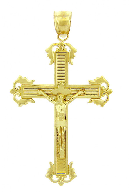 Yellow Gold Crucifix Pendant - The Passion Crucifix