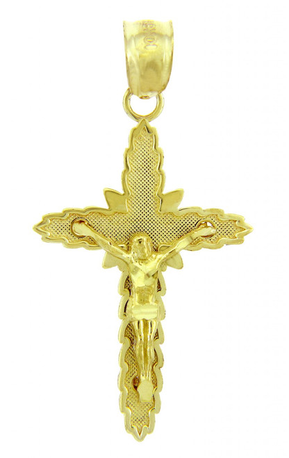 Yellow Gold Crucifix Pendant - The Son Crucifix