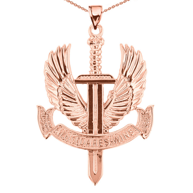Rose Gold Who Dares Wins Pendant Necklace