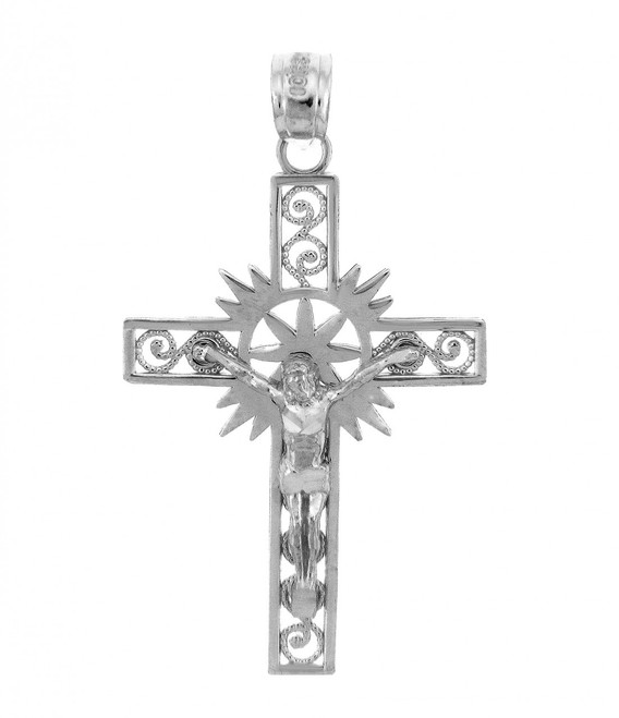 White Gold Crucifix Pendant - The Hope Crucifix