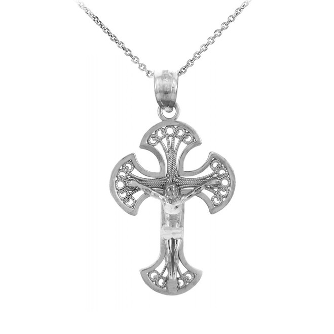 Sterling Silver Crucifix Pendant Necklace- The Heaven Crucifix