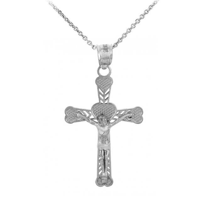 Sterling Silver Crucifix Pendant Necklace- The Salvation Crucifix