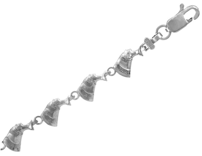 White Gold Bracelet - The Cleopatra Bracelet
