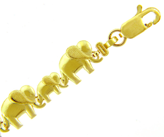 Yellow Gold Bracelet - The Elephant March Bracelet