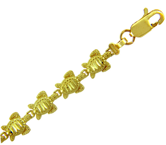 Yellow Gold Bracelet - The Turtle Bracelet