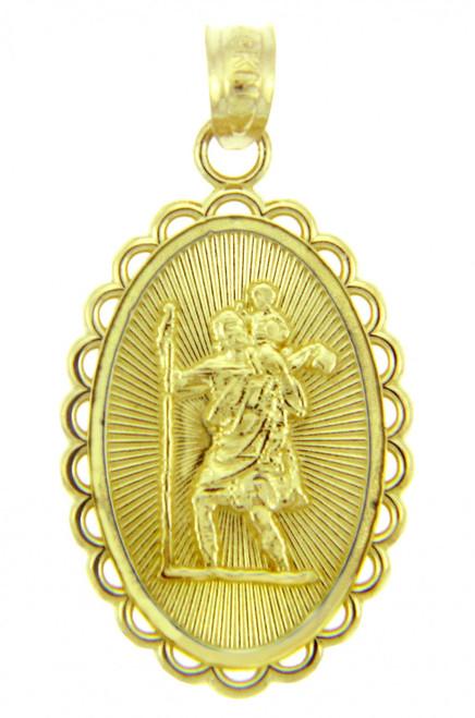 Saint Christopher Religious Charm Pendant