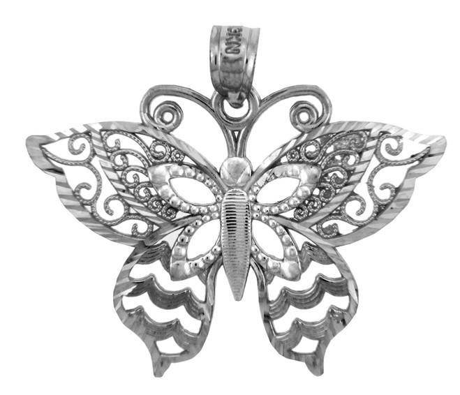 White Gold Charms - The Motyl Butterfly