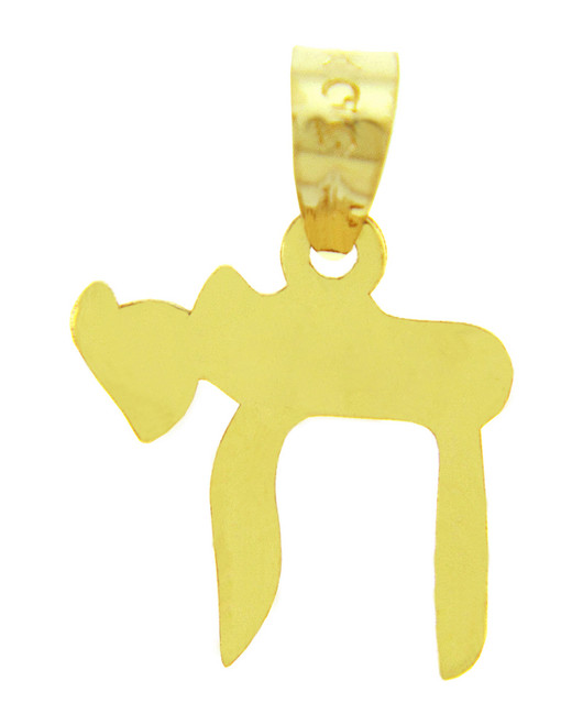 Jewish Charms and Pendants - Yellow Gold Chai Charm