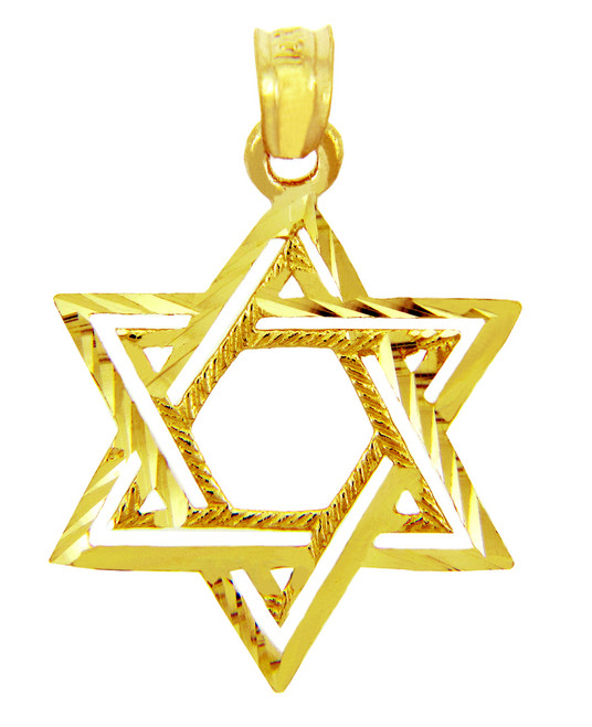 Jewish Charms and Pendants -  Double Star of David