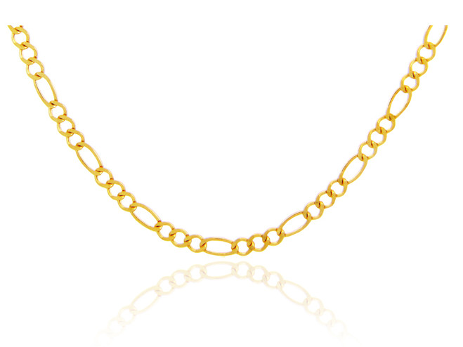 Gold Chains: Figaro Gold Chain 3.45mm