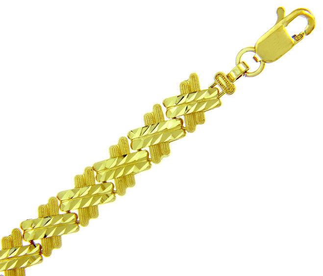 Yellow Gold Bracelet - The Baguette Bracelet