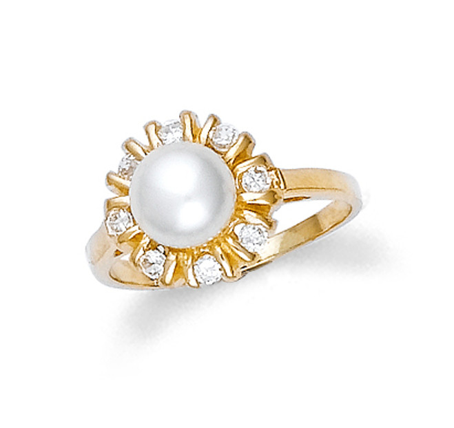 Gold Pearl Ring Classic