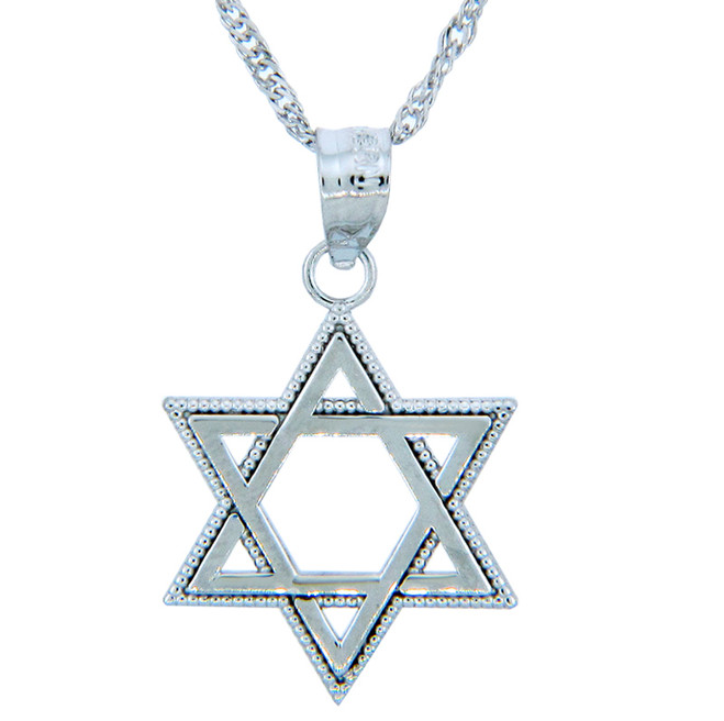 Jewish Pendants - Silver Star of David Pendant