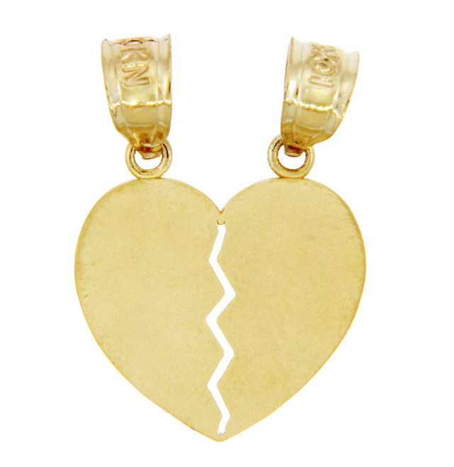 Gold Pendants - Gold Breakable Heart Pendant