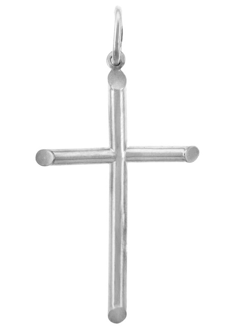 White Gold Crosses - Large Gold Cross Pendant
