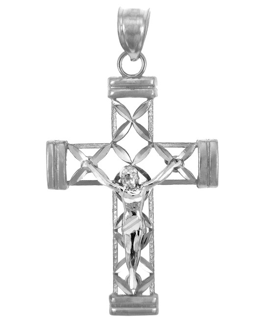 White Gold Cross Pendant- The Believe Crucifix