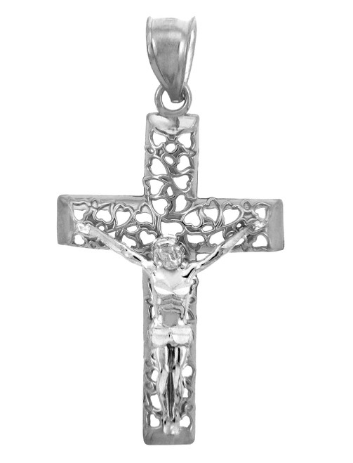 The Blessed White Gold Cross Pendant