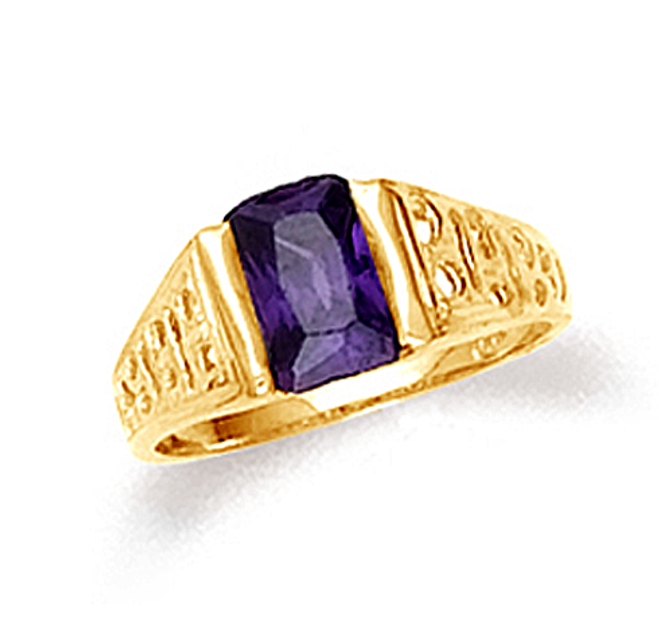 Gold Amethyst Baby Ring