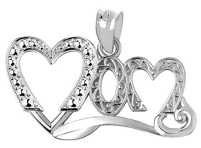 Mom Silver Fancy Pendant