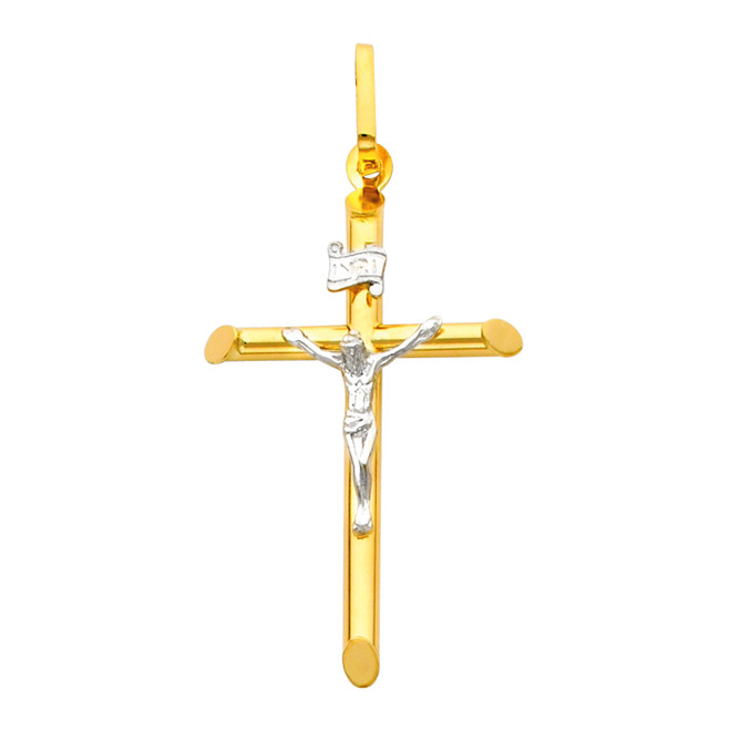 14K Gold Two-Tone Adored Crucifix