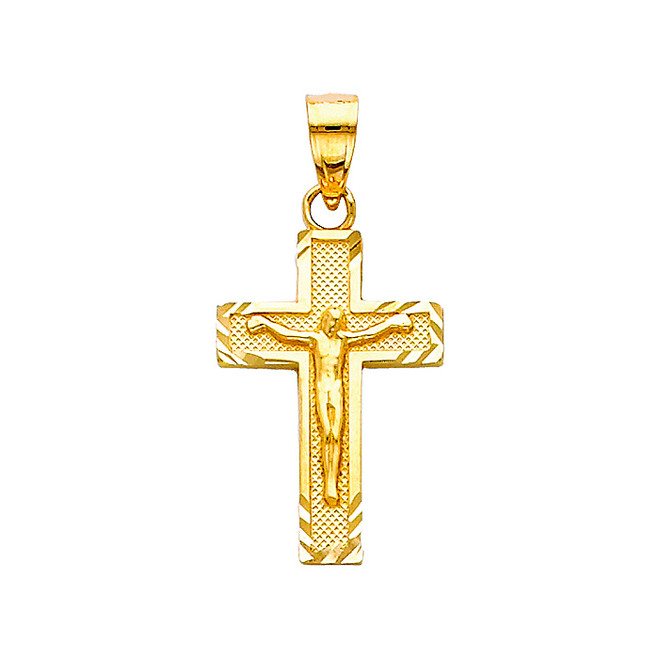 14K Gold Angelica Crucifix