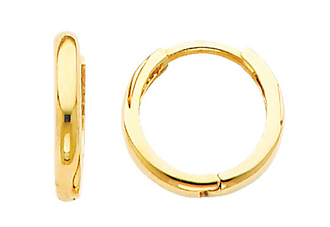 Classic Yellow Gold Huggies Earrings