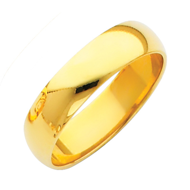 Gold Classic Wedding Band - 5MM