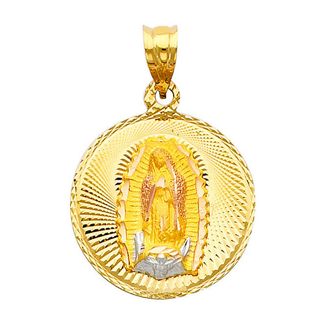 """Classic """"Our Lady of Guadalupe"""" Pendant- 0.75 Inch"""
