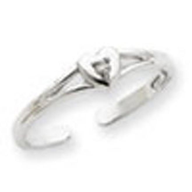 White Gold .01ct Diamond Heart Toe Ring