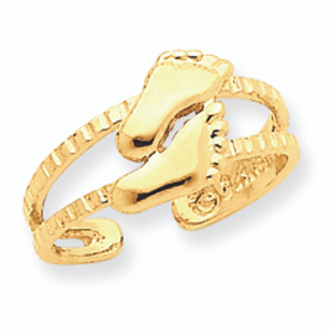 Yellow Gold Feet Toe Ring