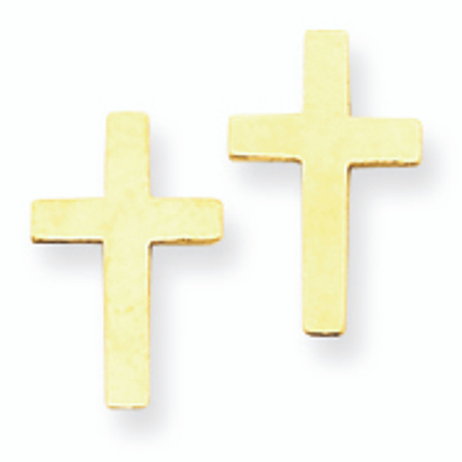 Polished Cross Earrings