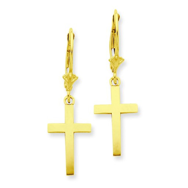 Cross Leverback Earrings