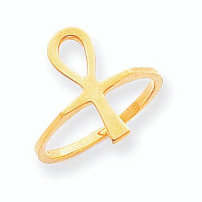 Gold Ankh Egyptian Cross Ring