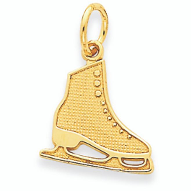14K Gold Ice Skate Pendant