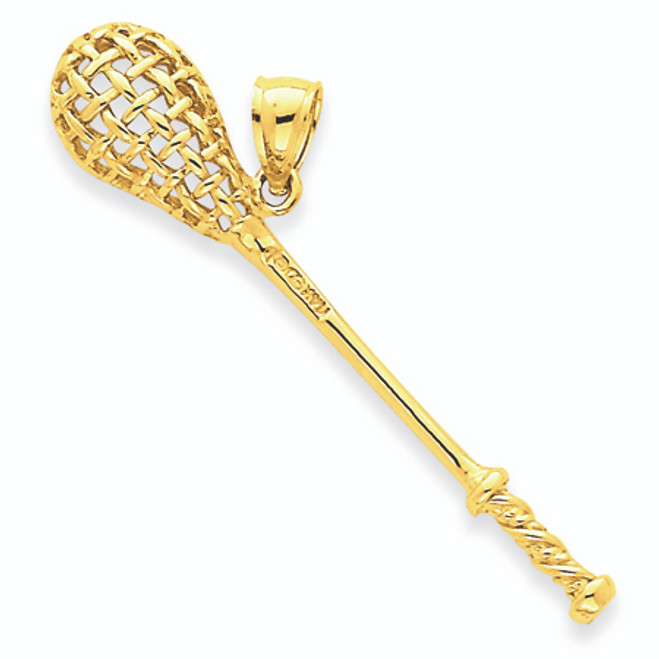Yellow Gold Lacrosse Stick Charm