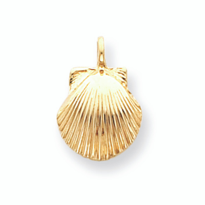 Yellow Gold Seashell Charm