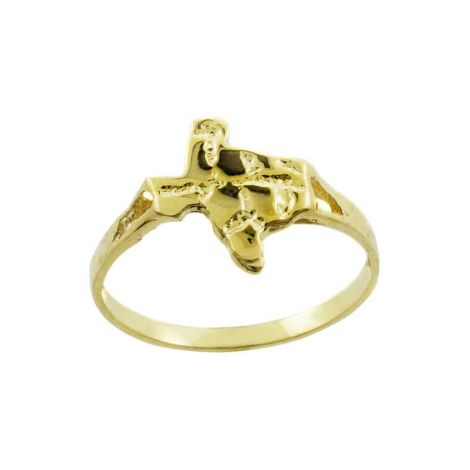 Yellow Gold Small Texas Nugget Ring