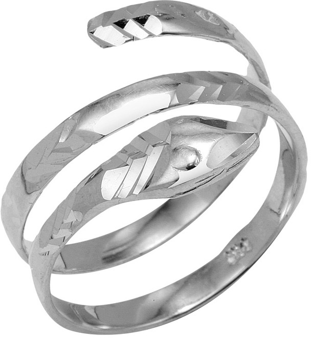925 Sterling Silver Coiled Snake Ring