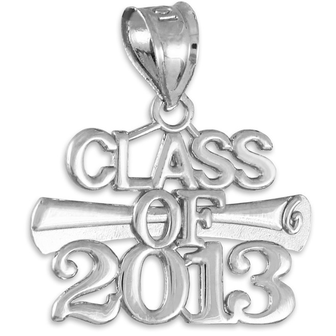 CLASS OF 2013 Graduation Silver Charm Pendant
