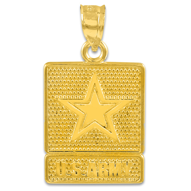Solid Gold US ARMY Pendant