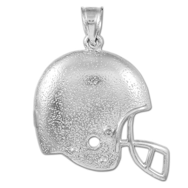 Sterling Silver Football Helmet Sports Pendant
