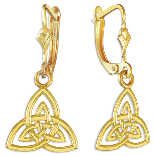 Trinity Knot Gold Earrings