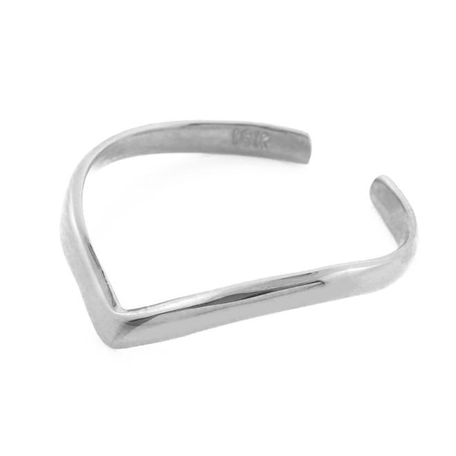 Silver Chevron Stackable Toe Ring